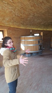 Our young, sparkling Sommelier at Podere Le Ripi winery. I wanted to adopt her.