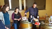 Carlo Cignozzi pouring at the Mozart Vineyard.